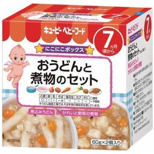キューピーベビーフード おうどんと煮物のセット 60g×2,離乳食,ベビーフード,