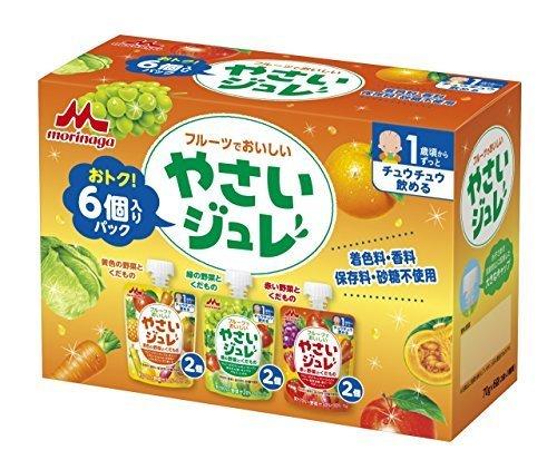 森永 フルーツでおいしいやさいジュレ 70g×6袋,離乳食,ベビーフード,