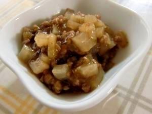 【離乳食後期】大根とひき肉の炒め煮(とろみ有り),離乳食,大根,