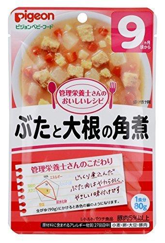 ピジョン 管理栄養士さんのおいしいレシピ ぶたと大根の角煮 80g ×12個,離乳食,大根,