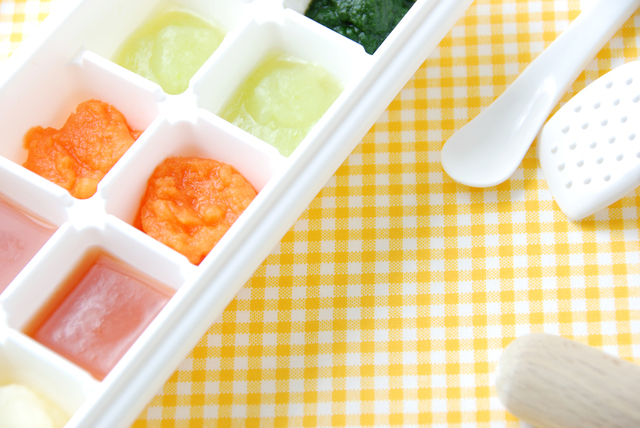 冷凍 離乳食,離乳食,小松菜,