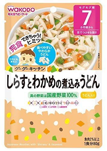 和光堂 グーグーキッチン しらすとわかめの煮込みうどん×6袋,ベビーフード,7ヶ月,
