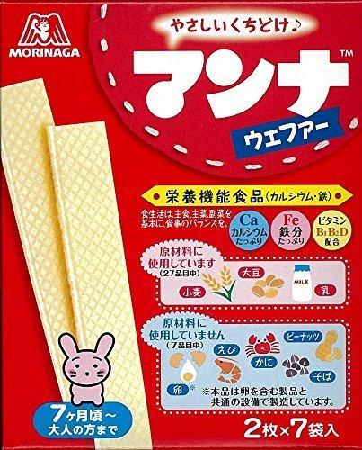 森永製菓 マンナウェファー 14枚(2枚×7袋)×6箱,ベビーフード,7ヶ月,