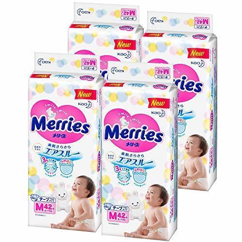 メリーズ テープ Mサイズ(6~11kg) さらさらエアスルー 168枚 (42枚×4),ランキング,おむつ,普通体型 男の子