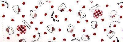 <コーティングカット・ランチョンマット> キティ(オフ)#213,給食,ナフキン,