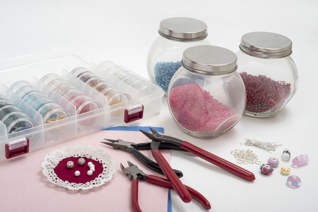 ハンドメイド材料の一例,手作り,ヘアゴム,