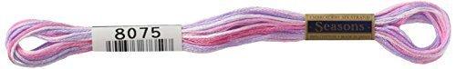 ルシアン コスモ 刺しゅう糸 Seasons 25番・#25 ぼかし 8075,手作り,ヘアゴム,