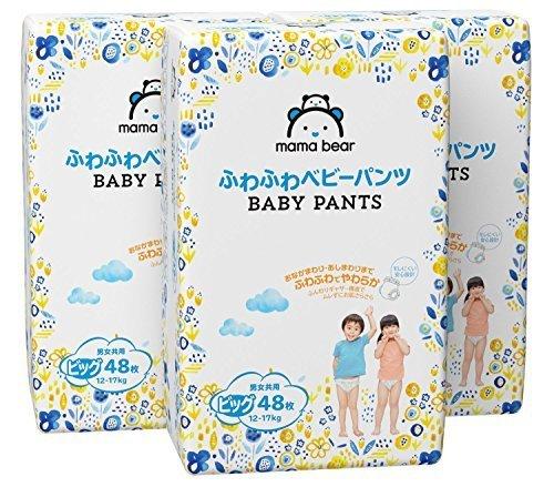 [Amazonブランド]Mama Bear ふわふわベビーパンツ ビッグ(12-17kg) 48枚×3パック,アマゾン,ブランド,
