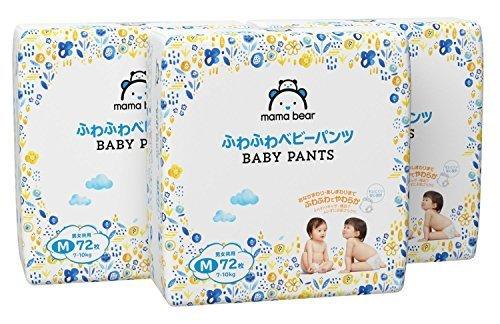[Amazonブランド]Mama Bear ふわふわベビーパンツ M(7-10kg) 72枚×3パック,アマゾン,ブランド,