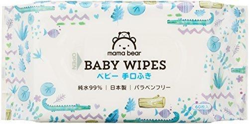 [Amazonブランド]Mama Bear ベビー 手口ふき 純水99% 60枚入×20個 (1200枚) 日本製 パラベンフリー,アマゾン,ブランド,