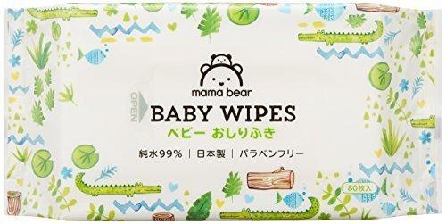 [Amazonブランド]Mama Bear ベビー おしりふき 純水 99% 80枚入×20個 (1600枚) 日本製 パラベンフリー,アマゾン,ブランド,