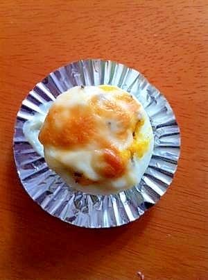お弁当に簡単な☆ゆで卵のグラタン☆,卵,お弁当,