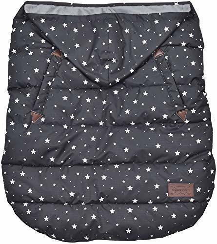 wipcream ウィップクリーム フットマフ 2way ベビーウォーマー 抱っこ紐 ベビーカー WC-BW0015 (black star dot),抱っこ紐,レインカバー,