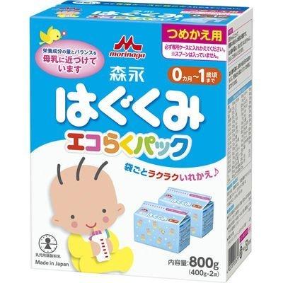森永 エコらくパック つめかえ用 はぐくみ 800g (400g×2袋),ランキング,粉ミルク,混合(主に母乳)
