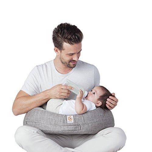 エルゴベビー(Ergobaby) 【授乳まくら】 ナチュラルカーブ・ナーシングピロー グレー FDEG101015 【日本正規品保証付】,授乳クッション,抱き枕,