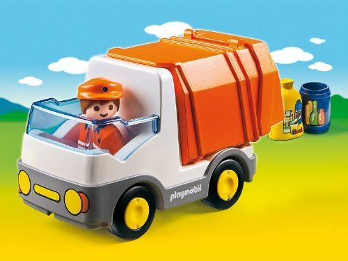 プレイモービル1.2.3 ゴミ収集車,ミニカー,おもちゃ,