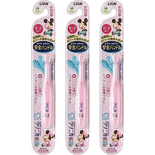 クリニカKid's ハブラシ 0-2才用 3本パック(ピンク),ランキング,乳児用歯ブラシ,1歳0ヶ月