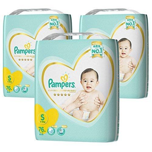 【ケース販売】 パンパース テープ S(4~8kg) はじめての肌へのいちばん 228枚 (76枚×3),ランキング,おむつ,ぽっちゃり体型 男の子