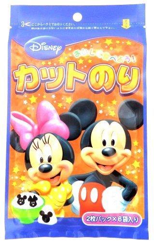ディズニー ミッキー カットのり 全形1枚分 ×3袋,キャラ弁,グッズ,