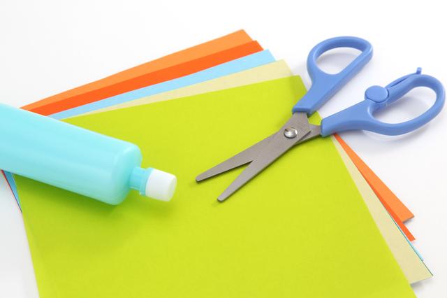折り紙・はさみ・のり,折り紙,リボン,