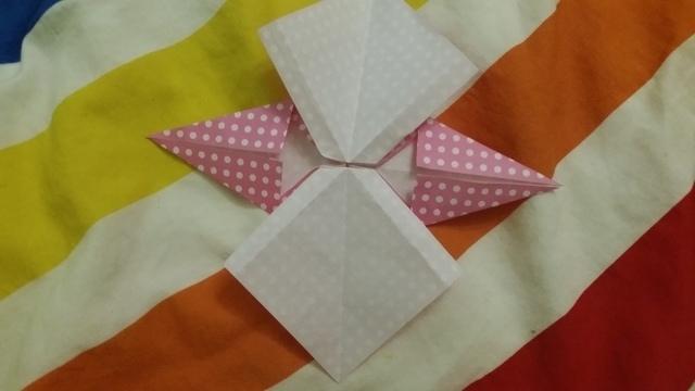 折り紙リボン折り方12,折り紙,リボン,