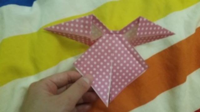 折り紙リボン折り方13,折り紙,リボン,