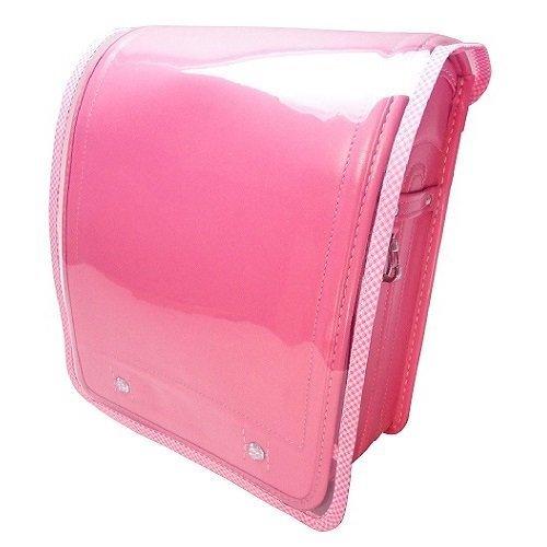 かわだい 透明ランドセルカバー ピンクのチェック,ランドセルカバー,