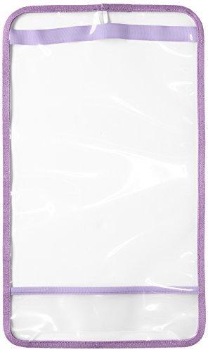 [マモルチャン] Mamoruchan キッズ まもるちゃん キラキラふち透明ランドセルカバー Mサイズ RKL-1700 パープル (パープル),ランドセルカバー,