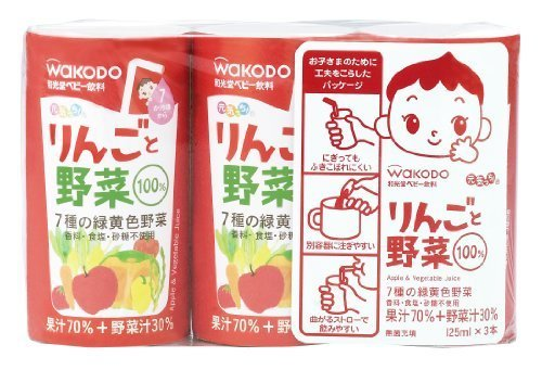 元気っち! りんごと野菜 125ml×18本,赤ちゃん,飲み物,