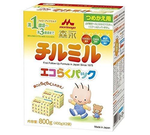 森永 チルミル エコらくパック つめかえ用 800g(400g×2袋),フォローアップミルク,量,飲ませ方