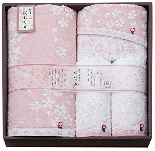 今治タオル 桜おり布 タオルセット ピンク IS7650-PI,出産祝い,タオル,
