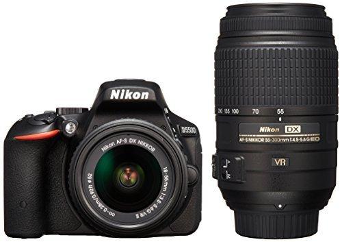 Nikon デジタル一眼レフカメラ D5500 ダブルズームキット ブラック 2416万画素 3.2型液晶 タッチパネルD5500WZBK,デジタルカメラ,おすすめ,