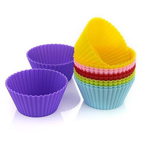 BUTEFO  マフィン型 ベーキングカップ 12個入り シリコンカップ カップケーキ型,キャラ弁グッズ,