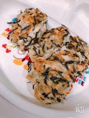 離乳食〜後期〜鶏ひき肉の豆腐ひじきハンバーグ♡,離乳食,ストック,