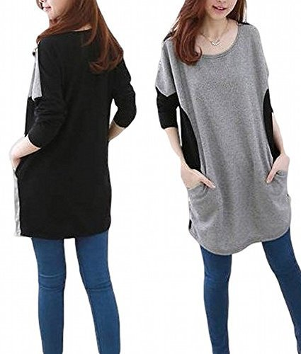 SUGAR PORT (シュガーポート) マタニティ お腹ゆったり ロング カットソー レディース ファッション 大きいサイズ C002 (サイズ:XXL),マタニティ,大きいサイズ,