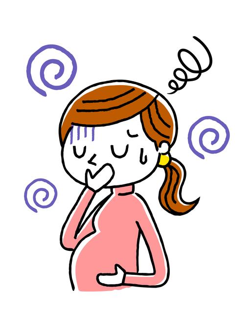 不調の妊婦さん,妊娠後期,
