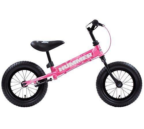 HUMMER(ハマー) TRAINEE BIKE カモフラージュピンク 12.5インチ 幼児/子供用トレーニングキックバイク 【専用スタンド付き】 安定のある極太タイヤ搭載 後輪ブレーキ付 13028-0499,ペダルなし,自転車,