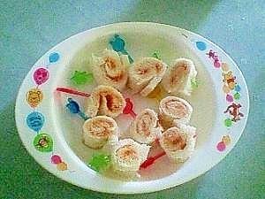 【離乳食】くるくる手作りジャムサンドロール♪ ,離乳食,りんご,
