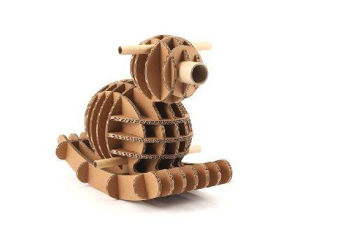 〈子供用ダンボールおもちゃ・段ボール遊具〉強化段ボールの乗用玩具・鳥の木馬「ピーター」,おもちゃ,乗り物,