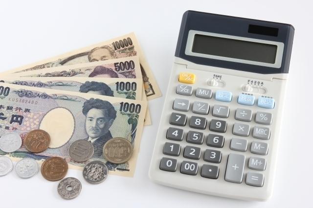 お金と電卓・イメージ画像,内祝い,紅茶,
