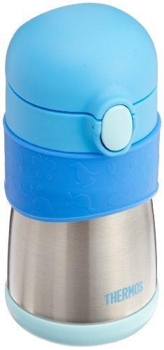 サーモス 真空断熱ベビートレーニングマグ FFH-290TM ブルー,赤ちゃん,コップ練習,方法