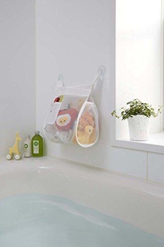 山崎実業 収納袋 お風呂おもちゃ袋 スクエア ホワイト 3367,赤ちゃん,お風呂グッズ,