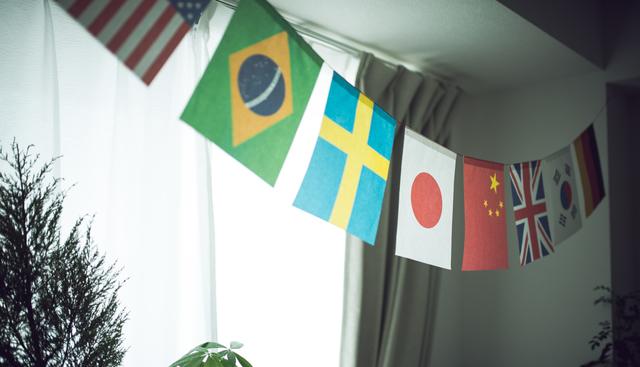 万国旗,母子手帳,どこで,