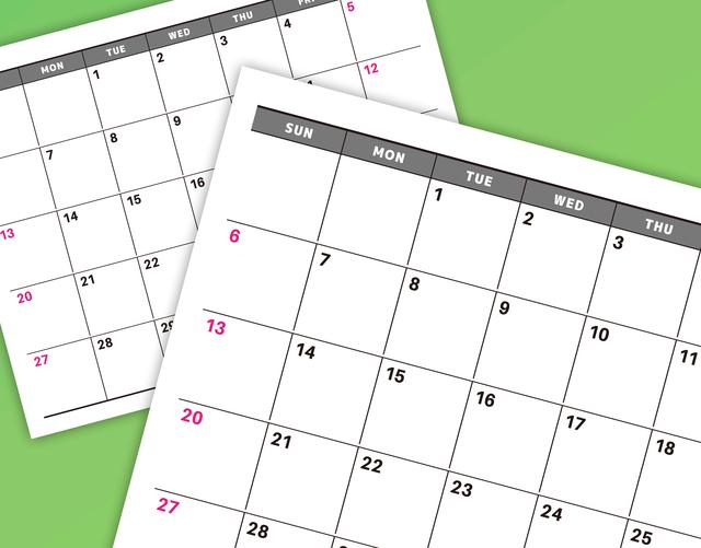 カレンダー,妊婦検診,費用,頻度