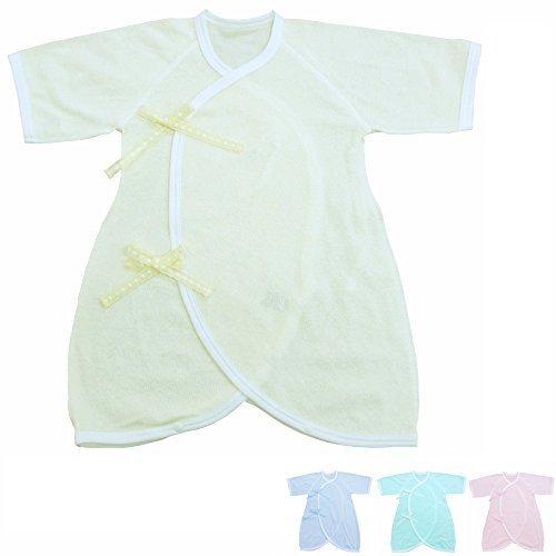 パステルキャンディーカラーのパイルコンビ肌着 50-60cm 綿100% 日本製 (クリーム),肌着,赤ちゃん,