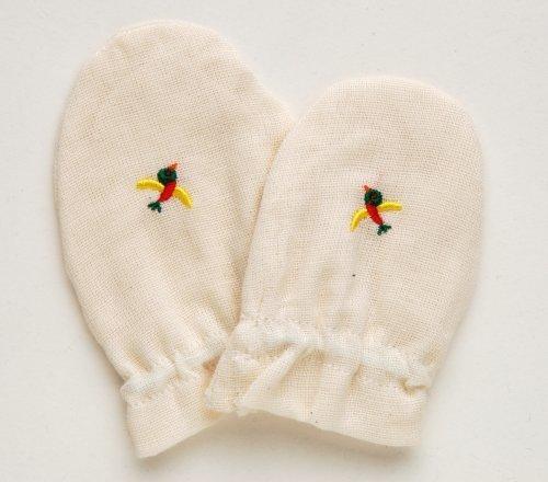 Solby オーガニック・ガーゼ・ミトン【オーガニックコットン】【手袋】AKAR009,赤ちゃん,ミトン,