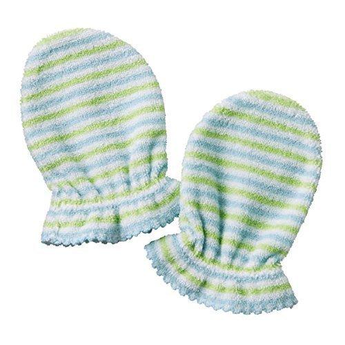 MIKIHOUSE HOTBISCUITS(ミキハウスホットビスケッツ)パイルボーダー ミトン フリーサイズ,ブルー,赤ちゃん,ミトン,