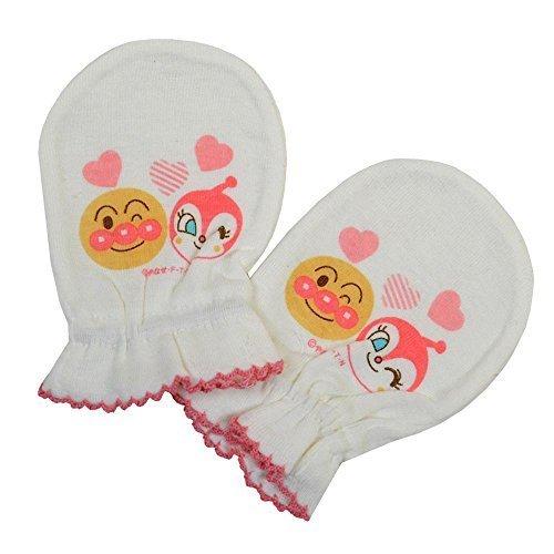ベビー ミトン 手袋 アンパンマン お顔のひっかき防止に ANPANMAN BANDAI ia1509 ピンク,赤ちゃん,ミトン,