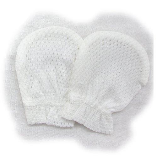綿100%のメッシュミトン1組 日本製,赤ちゃん,ミトン,