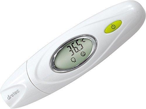 dretec(ドリテック) 体温計 赤外線 赤ちゃん お年寄り おでこ 耳 TO-300WT (ホワイト),体温計,赤ちゃん,